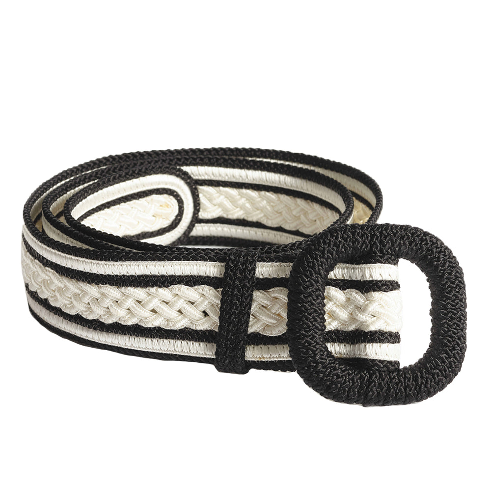Rabat Belt White