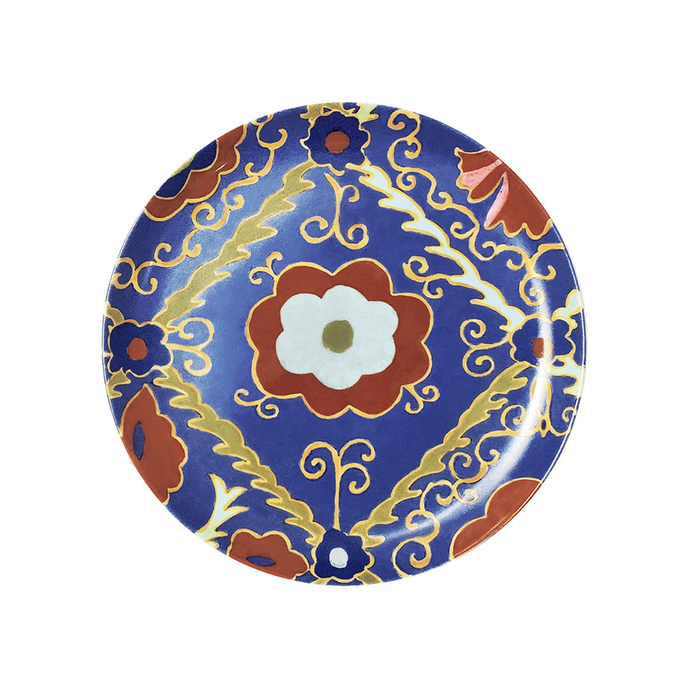 Load image into Gallery viewer, Suzani Dessert Plate Blue, Set of Two