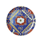 Suzani Dessert Plate Blue, Set of Two