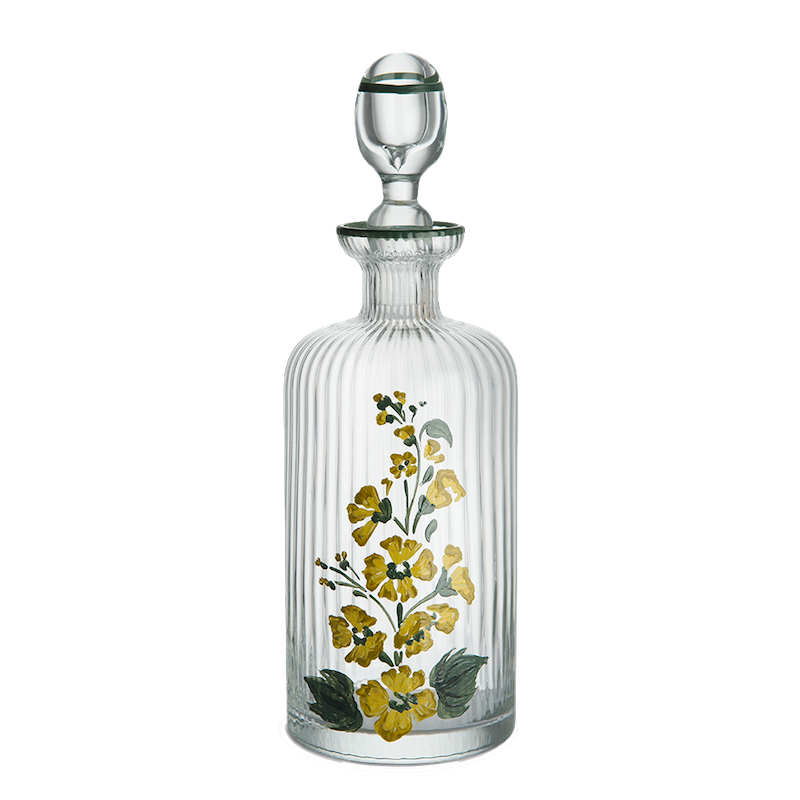 Murano Hand-Painted Oil Bottle