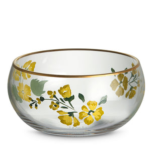 Murano Bowl with Yellow Flower