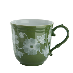 Load image into Gallery viewer, Ginori Floral Mug Green