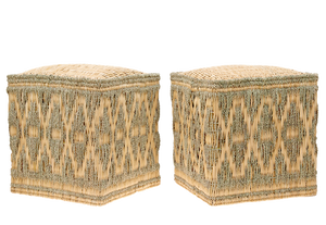 Wicker Stools Sage, Set of Two