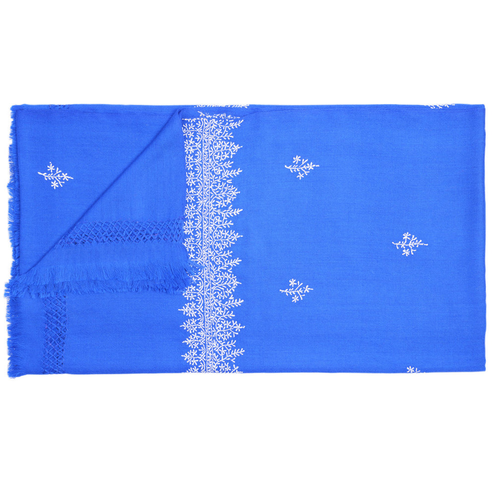 Jaipur Throw Blanket Blue