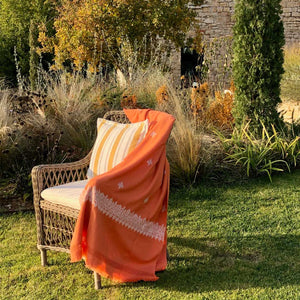 Load image into Gallery viewer, Jaipur Throw Blanket Orange