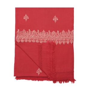 Jaipur Throw Blanket Red