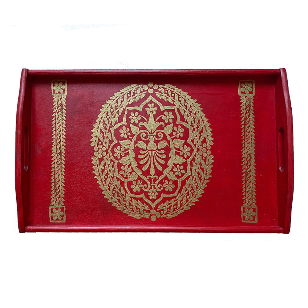 Siena Tray Red and Gold