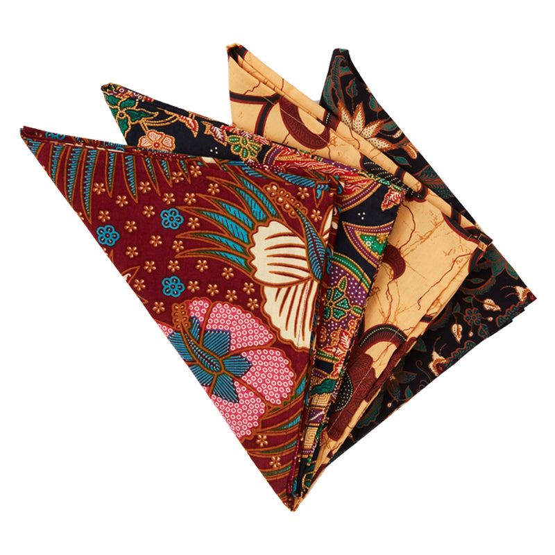 Saffron Batik Napkins, Set of Four