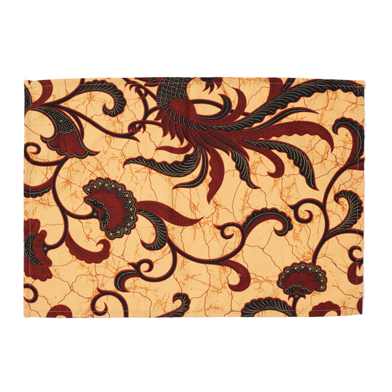 Saffron Batik Placemats, Set of Two