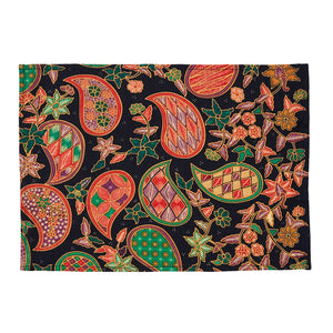 Paisley Batik Placemats, Set of Two