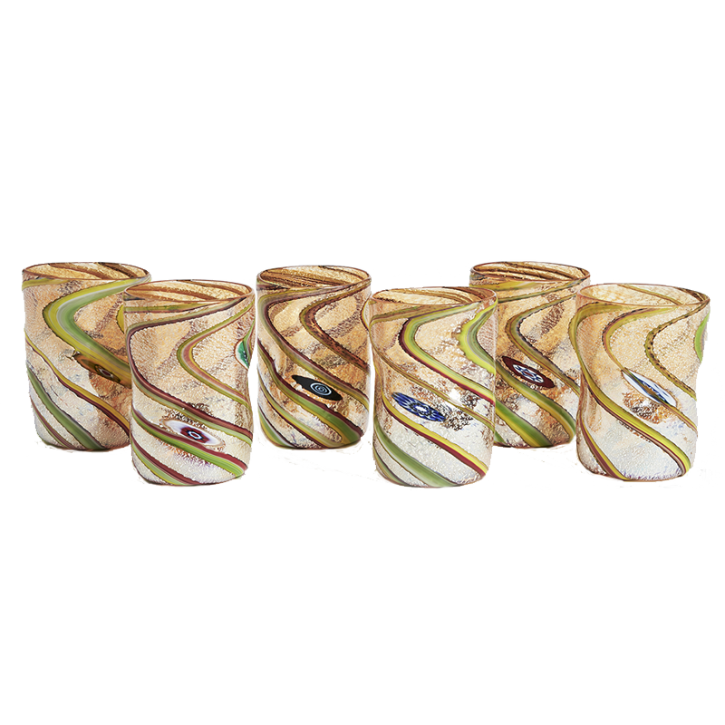 Pennellate Water Glasses, set of six