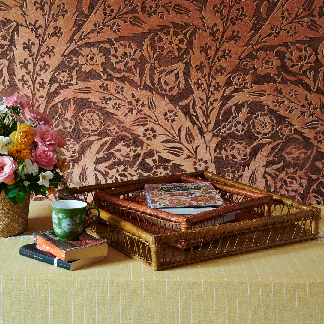 Walnut and Terracotta Trays