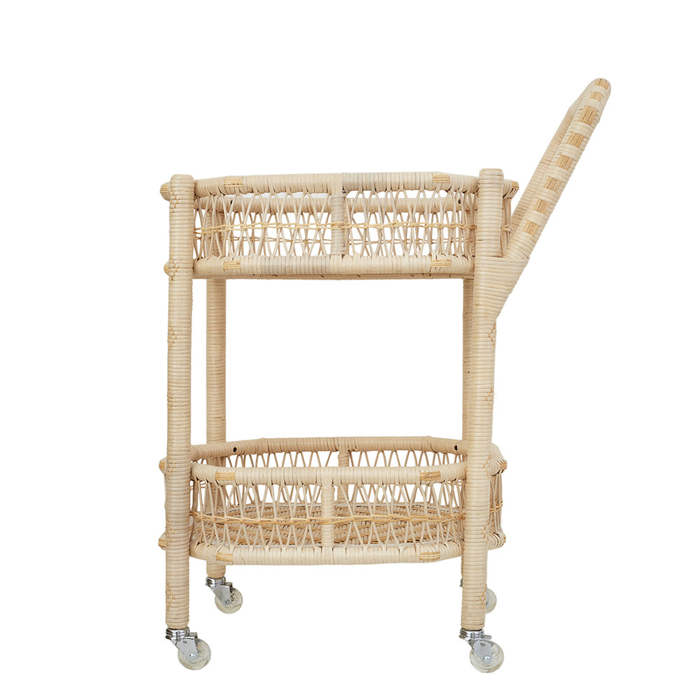 Wicker Drinks Trolley