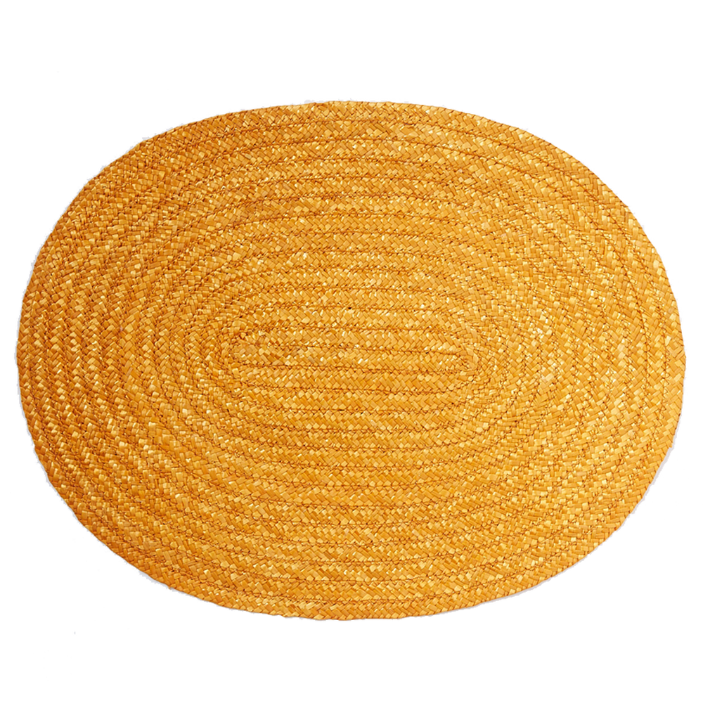 Yellow Woven Raffia Placemat
