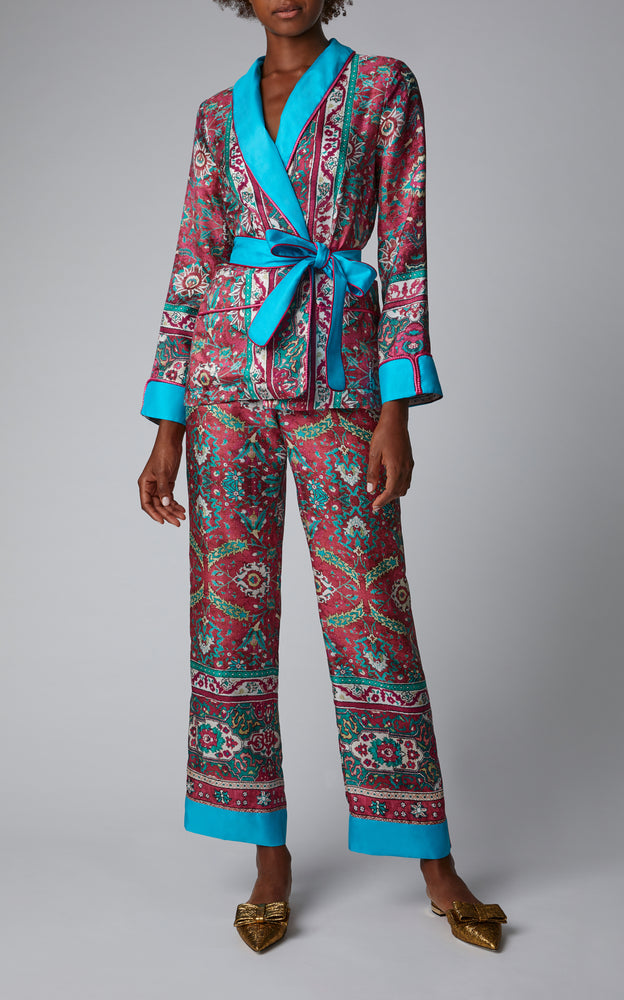For Restless Sleepers x Cabana Limited Edition Printed Silk Trousers