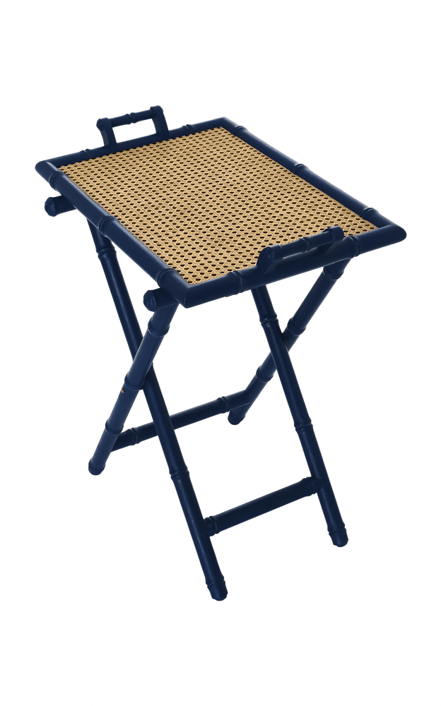 Folding Tray Table Blue