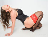 Sweet Black-Red Luxury Stockings