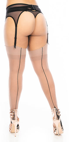 """I See You Lookin!"" Stockings MakeUp-Black Line"