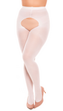 PeekaBoo Wedding White Tights