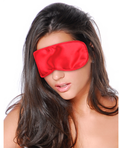 Candy Red Satin Mask
