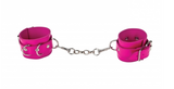 Premium Pink Leather Cuffs