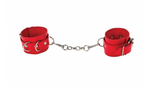 Premium Red Leather Cuffs