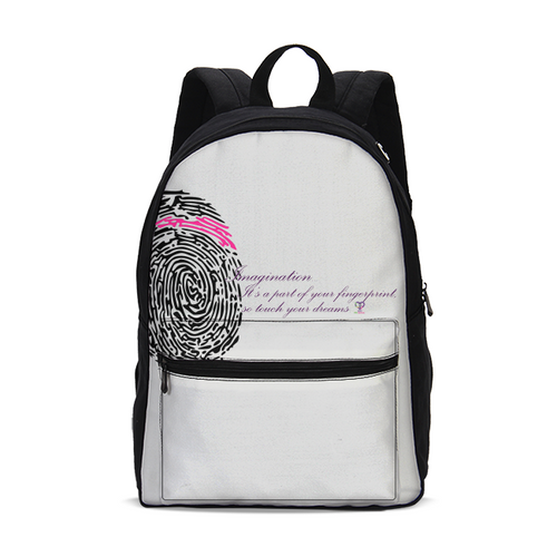 Imagination... A Women's Fingerprint Small Canvas Backpack