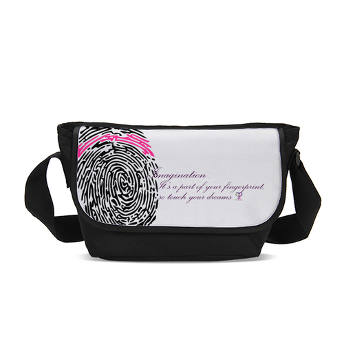 Imagination... A Women's Fingerprint Messenger Bag