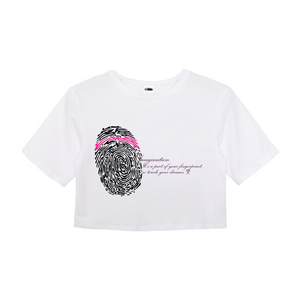 Imagination... A Women's Fingerprint Crop Top