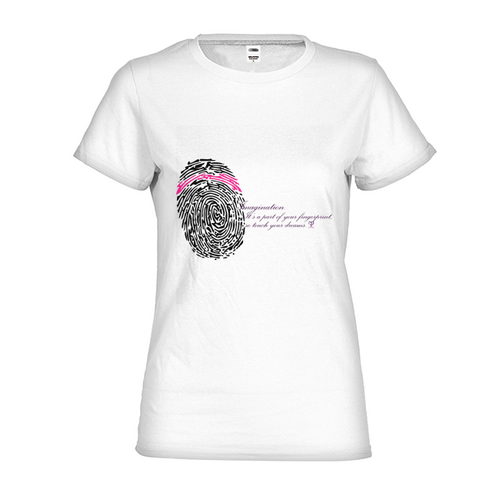 Imagination... A Women's Fingerprint Womens Fitted T-Shirt