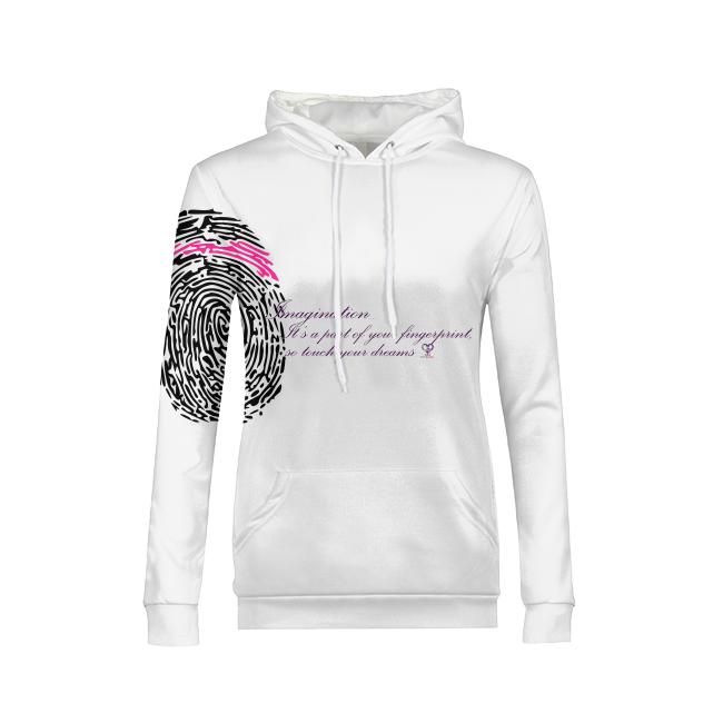 Imagination... A Women's Fingerprint Womens All-Over Print Hoodie