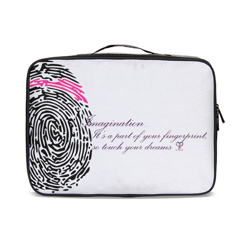 Imagination... A Women's Fingerprint Jetsetter Travel Case