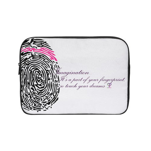 Imagination... A Women's Fingerprint Laptop Sleeve