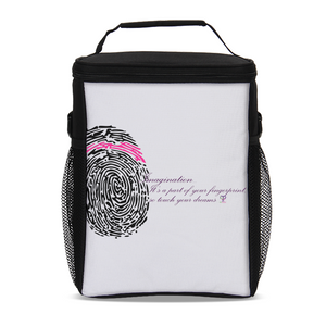 Imagination... A Women's Fingerprint Tall Insulated Lunch Bag