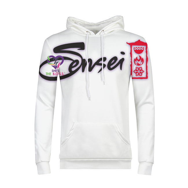 She's The B.O.S.S. Sensei Mens All-Over Print Hoodie