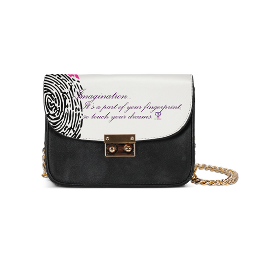 Imagination... A Women's Fingerprint Small Shoulder Bag