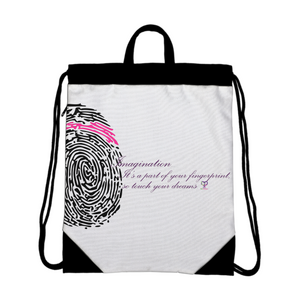 Imagination... A Women's Fingerprint Drawstring Bag