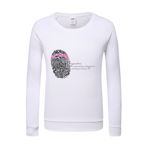 Imagination... A Women's Fingerprint Womens Sweatshirt