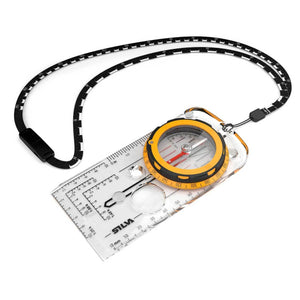 Silva EXPEDITION compass with it's scale lanyard and yellow housing
