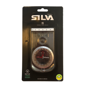 Silva 3S compass in it's packaging front perspective