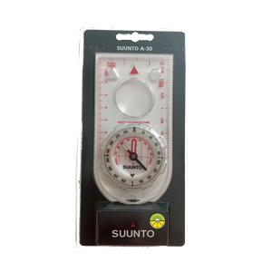 Suunto A-30 compass in it's package front perspective