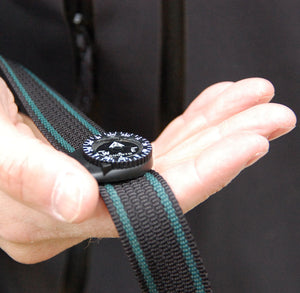 Suunto Clipper compass on a belt