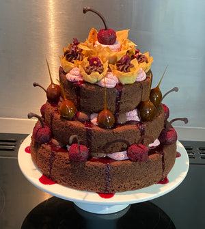 Chocolate Cherry Celebration Cake by Magz Guy