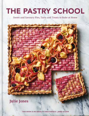 PISTACHIO TART WITH RHUBARB TILES