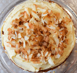 RIA'S TOASTED COCONUT MARSHMALLOW CREAM CAKE