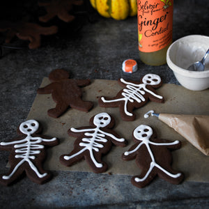 halloween skeleton gingerbread cookies and biscuits