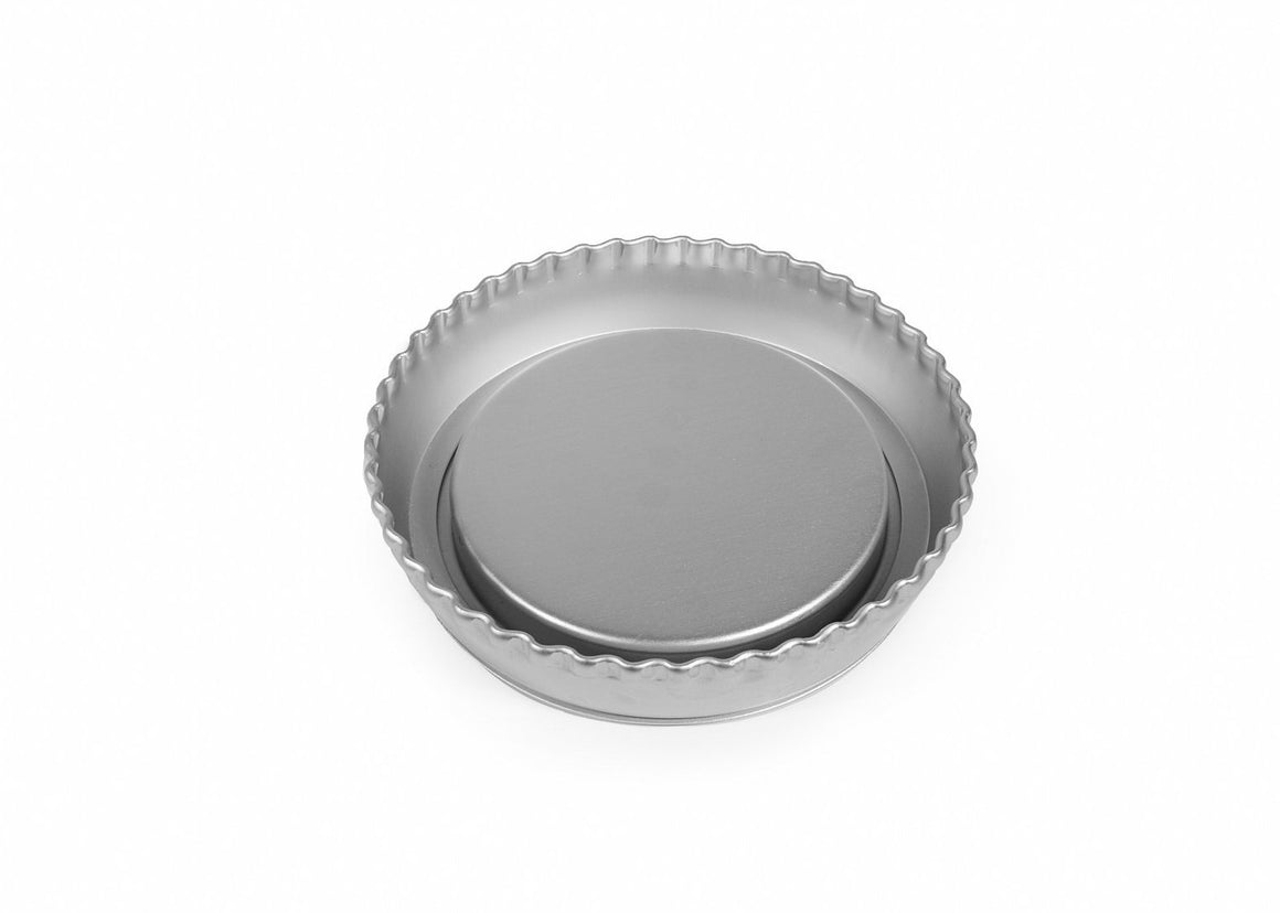 6 INCH CRIMPED FLAN LOOSE BASE AND SPONGE INSERT