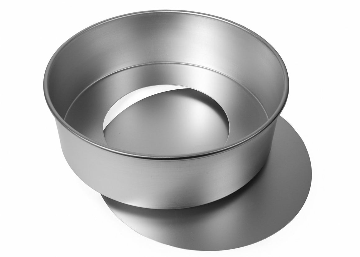 13x4 INCH ROUND CAKE TIN, LOOSE BASE