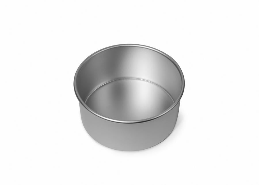 5x3 inch Round Cake Tin with Solid Base