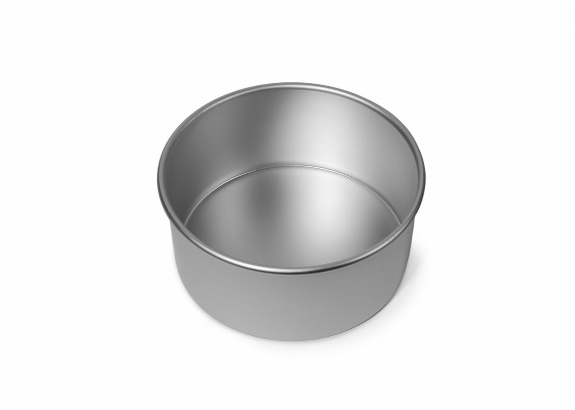 6x3 inch Round Cake Tin with Solid Base